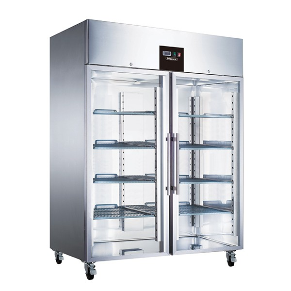 Double Glass Door Ventilated GN Freezer 1300L