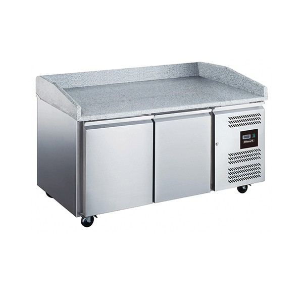 2 Door Pizza Prep Counter 390L