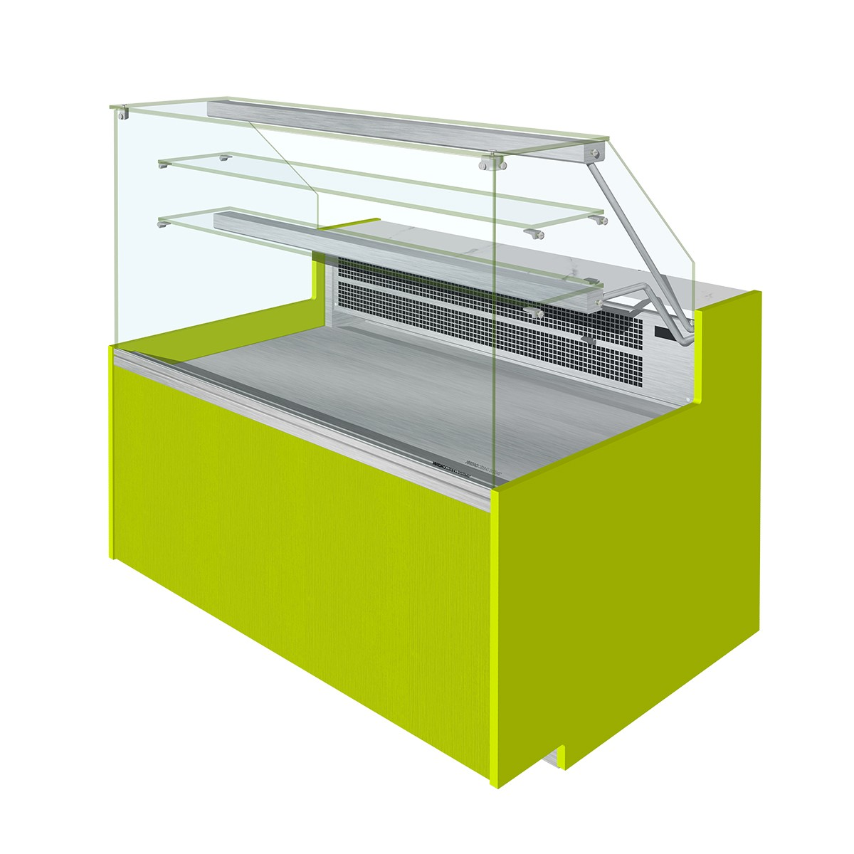 ELINE Flat Glass Serve Over Display Fan Assisted With Understorage