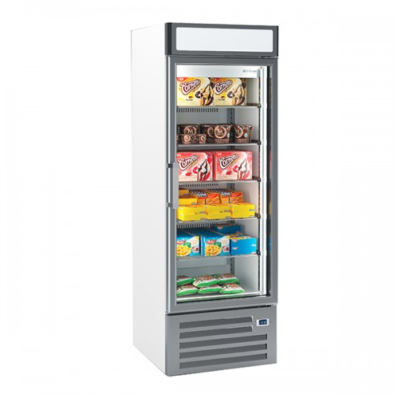 Single Glass Door Freezer Merchandiser 500L