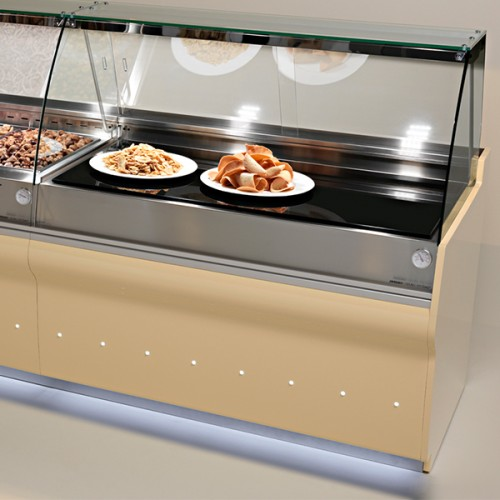 ELINE Curved Glass Hot Plate Display