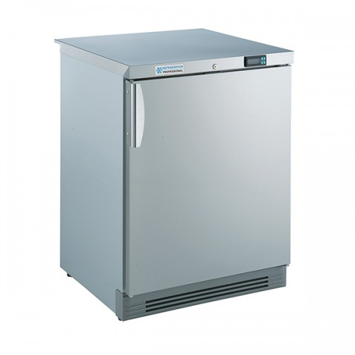 Undercounter Stainless Steel Freezer 165L