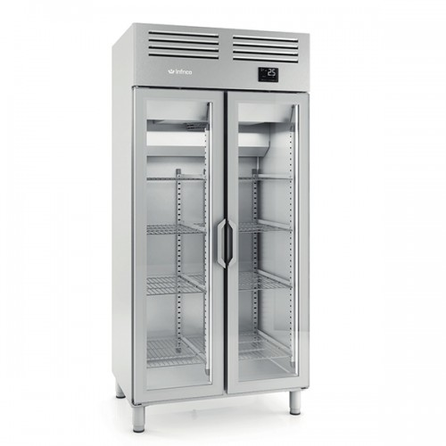 Double Glass Door Gastronorm Refrigerator 745L