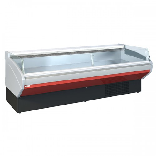 Flat Glass Self Service Counters With Under Storage