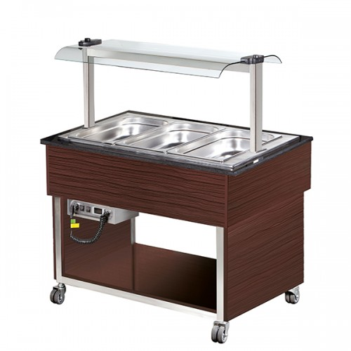 3 x GN1/1 Hot Buffet Display