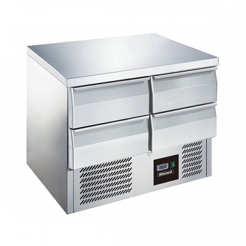4 Drawer Compact Gastronorm Counter 240L