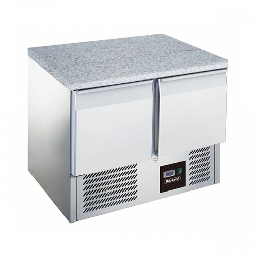 2 Dr Compact GN Counter with Granite Worktop 240L