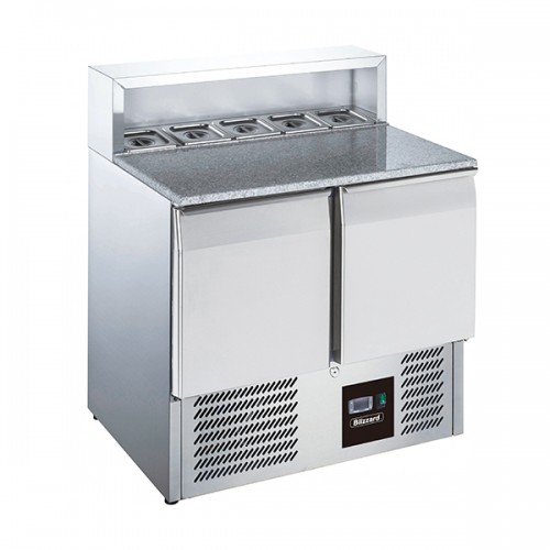 2 Door Compact Gastronorm Pizza Prep Counter 240L