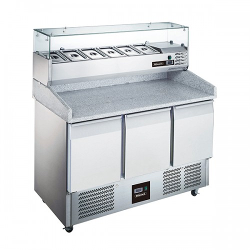 3 Door Compact Gastronorm Pizza Prep Counter 368L