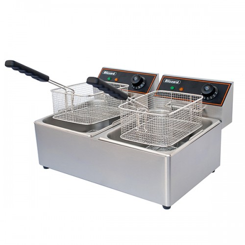 5000W Double Tank Electric Fryer 2x 6L