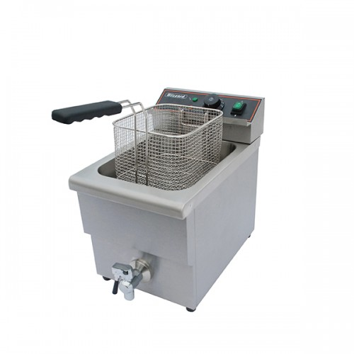 3000W Single Tank Electric Fryer with Tap 8L