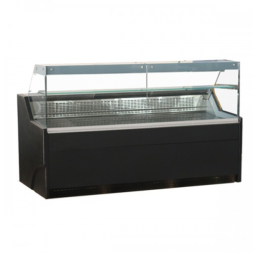 Flat Glass Serve Over Counters Black Laminated