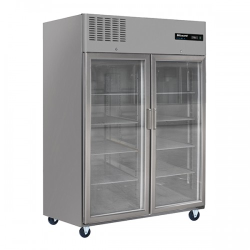 Double Glass Door Ventilated GN Refrigerator 1200L