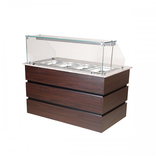 Flat Glass Heated Display Counter 4x GN1/1