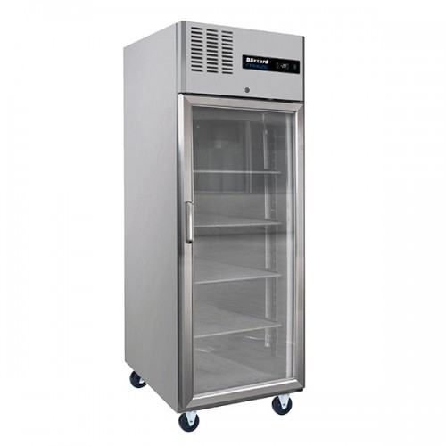 Single Glass Door Ventilated GN Freezer 550L