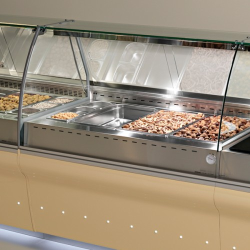 ELINE Curved Glass Bain Marie Dry Heat