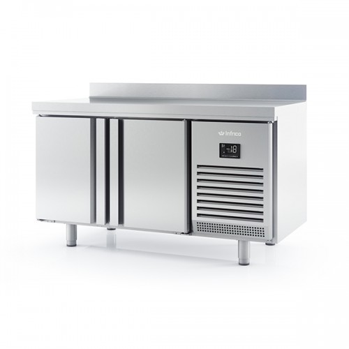 2 DR 600mm Depth Freezer Counter with upstand 245L
