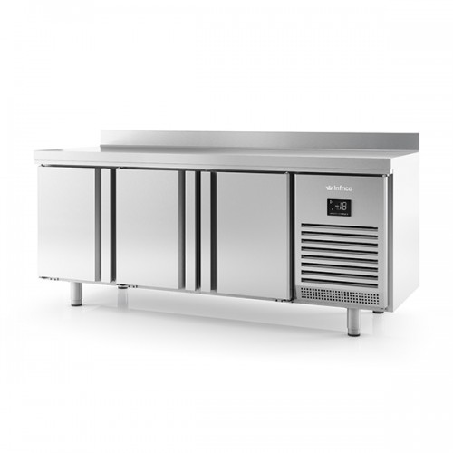 3 DR 600mm Depth Freezer Counter with upstand 385L