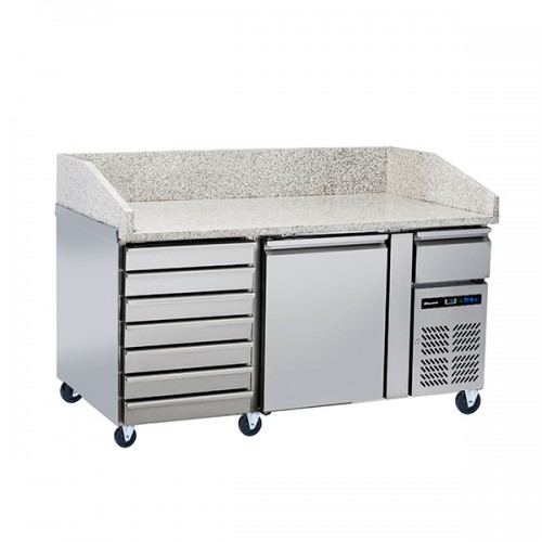 2 Door Pizza Prep Counter with Neutral drawer 228L