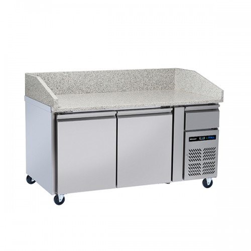 2 Door Pizza Prep Counter 428L