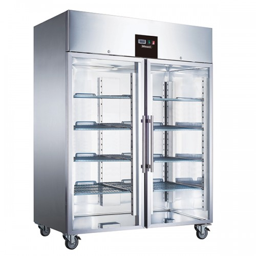 Double Glass Door Ventilated GN Refrigerator 1300L