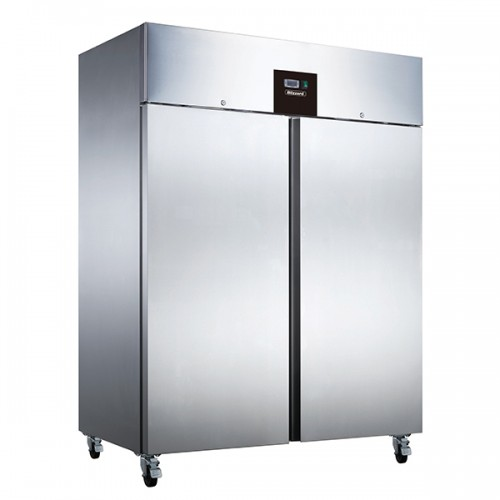 DOUBLE DOOR VENTILATED GN2/1 SS REFRIGERATOR 1300L