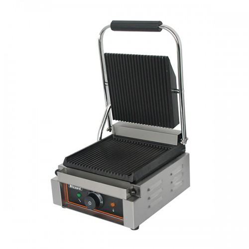 1800W Single Contact Grill Top & Bottom Ribbed