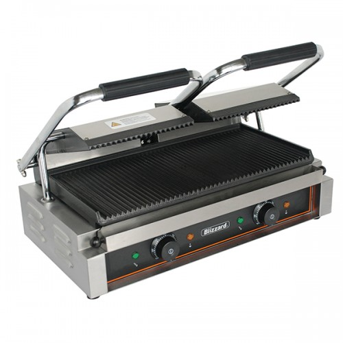 3600W Double Contact Grill Top & Bottom Ribbed