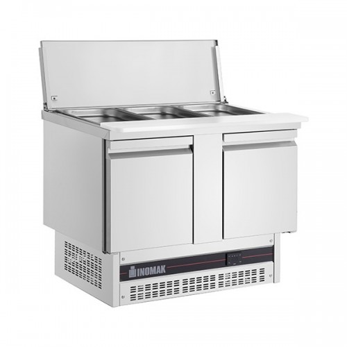 2 DR GASTRONORM SALADETTE WITH CUTTING BOARD 245L