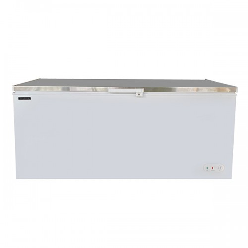 Stainless Steel Lid Chest Freezer 650L
