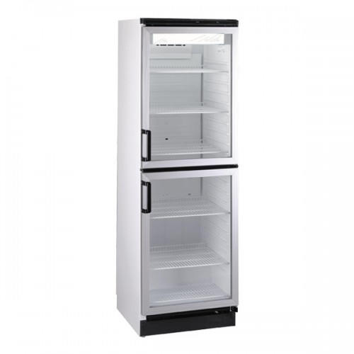 Double Glass Door Refrigerator 377L