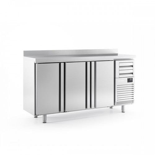 3 Door Tall Back Bar Counter with Upstand 510L