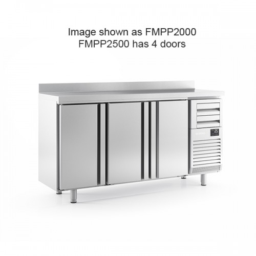 4 Door Tall Back Bar Counter with Upstand 695L