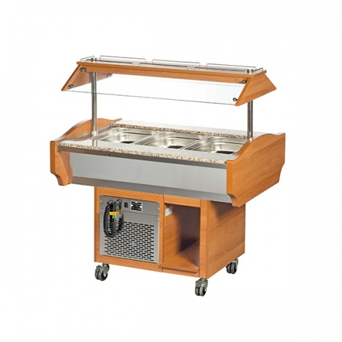 3 x GN1/1 Cold Buffet Display
