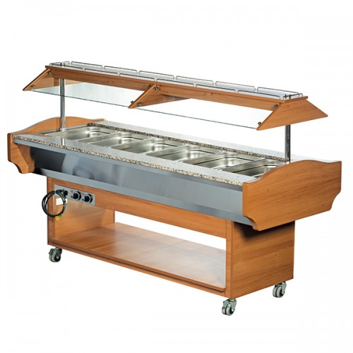 6 x GN1/1 Hot Buffet Display