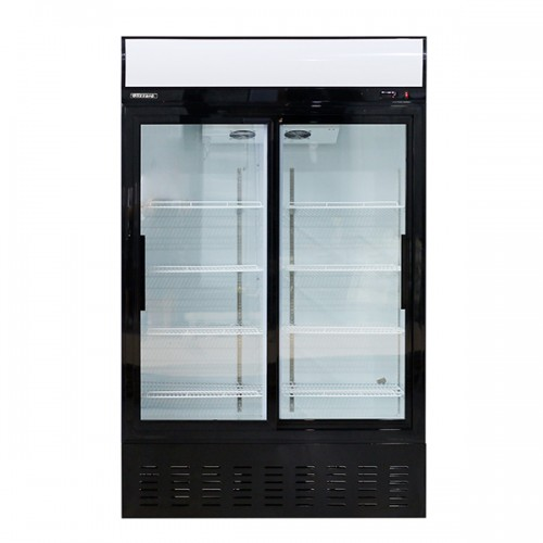 Double Glass Sliding Door Merchandiser 630L