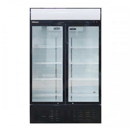 Double Glass Door Merchandiser 630L