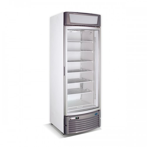 Single Glass Curved Door Freezer Display 425L