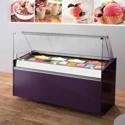ELINE Flat Glass Ice Cream Display