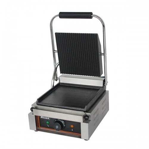 1800W Single Contact Grill Bottom Smooth