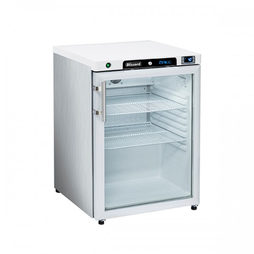 Glass Door SS Under Counter Refrigerator 170L