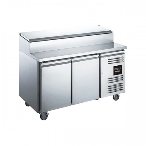 2 Dr Gastronorm Prep Counter w/ Raised Collar 282L