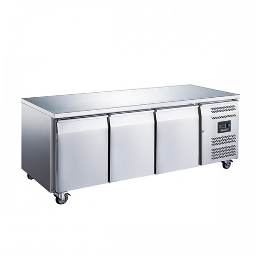 3 DOOR SLIMLINE 600MM DEPTH COUNTER 339L