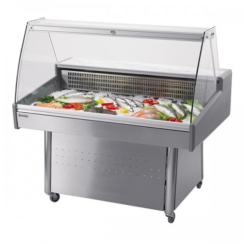 Stainless Steel Fish Display Case with Base