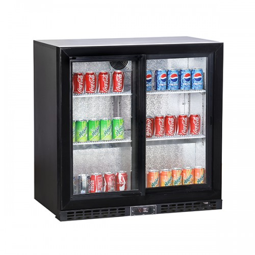 Double Sliding Door Bottle Cooler (196 Bottles)