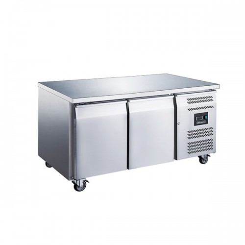 2 Door GN1/1 Freezer Counter Without Upstand 282L