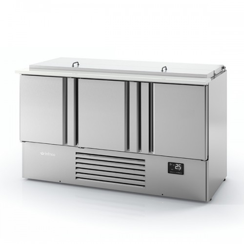 3 DR Compact GN Saladette with Cutting Board 355L