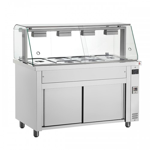 Gastronorm Bain Marie With Glass Structure & Ambient Base