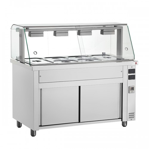 Gastronorm Bain Marie With Glass Structure & Heated Base