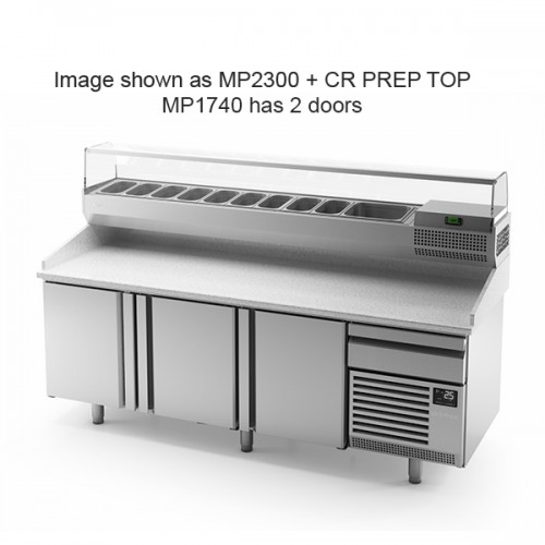 2 Door Pizza Prep Counter 485L